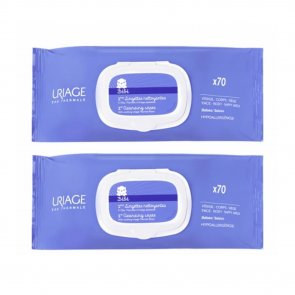 PACK PROMOCIONAL: Uriage Baby 1st Cleansing Wipes 2x70