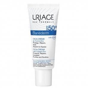 Uriage Bariéderm Repairing Cica-Cream with Cu-Zn SPF50+ 40ml