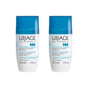 PROMOTIONAL PACK: Uriage Power3 Deodorant Roll-On 50ml x2
