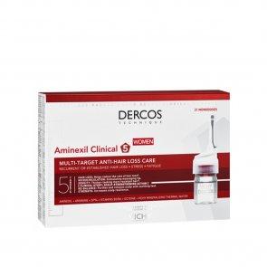 Vichy Dercos Aminexil Clinical 5 Anti-Hair Loss Ampoules Women x21