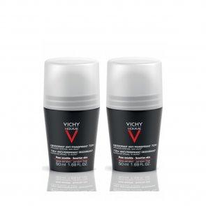 PACK PROMOCIONAL: Vichy Homme 72h Anti-Perspirant Deodorant 2x50ml