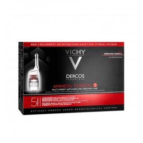 Vichy Dercos Aminexil Clinical 5 Alvos Homem 21 Ampolas