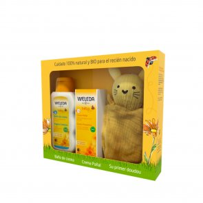 GIFT SET: Weleda Calendula Baby Cream Bath + Nappy Change Cream + Comforter Pack