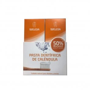 PROMOTIONAL PACK: Weleda Calendula Toothpaste Peppermint-Free 2x75ml