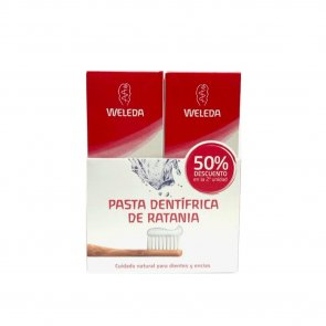 PROMOTIONAL PACK: Weleda Ratanhia Toothpaste 2x75ml