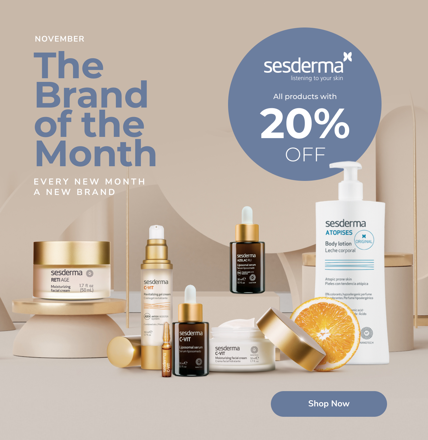 Sesderma brand of the month 20% off