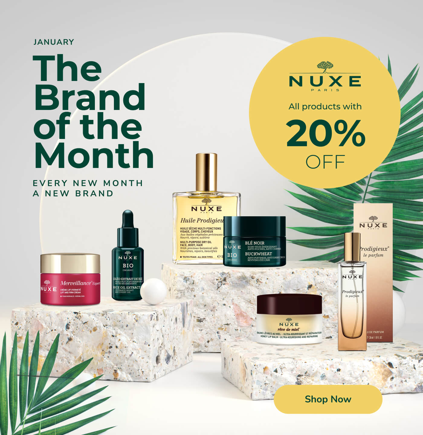 Nuxe - The Brand of the Month with 20% OFF