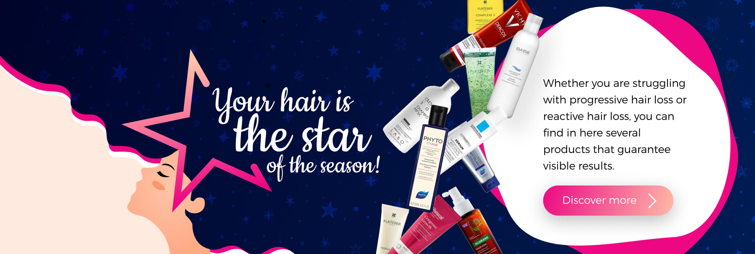 Your hair is the star of the season!